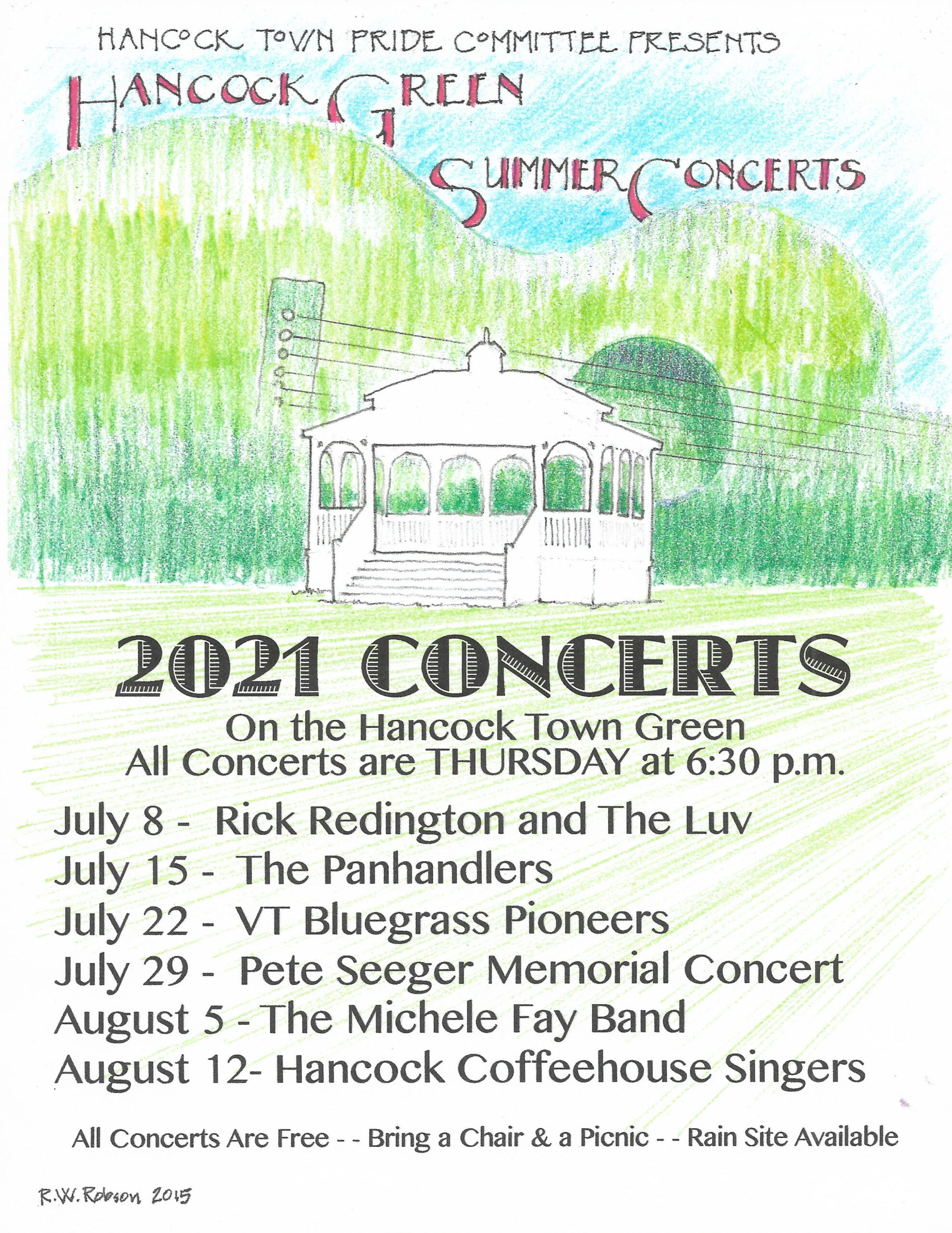 Hancock Summer Concerts on the Green  2021 Schedule